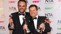 Ant and Dec at the 2018 NTAs
