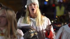 Chorister singing carols