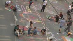Over 20,000 people gathered to set a new world record for street art
