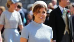 Princess Eugenie at her cousin Harry's wedding in May 2018