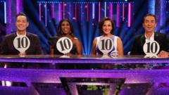 the judges of strictly come dancing. , Craig Revel Horwood, Motsi Mabuse, Shirley Ballas and Bruno Tonioli