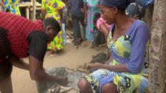 Women trading in market