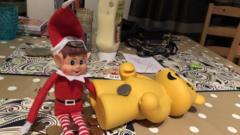Six-year-old Noah's elf in London has decided to dip into his pocket money