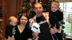LadBaby - aka Mark Hoyle - with wife Roxanne and children Koby and Phoenix