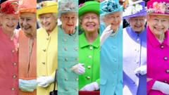 The Queen in colourful outfits