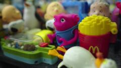 Toys from McDonald's kids meals