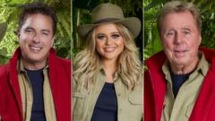 John Barrowman, Emily Atack and Harry Redknapp