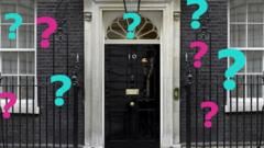 Number 10 door with question marks
