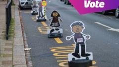 Schools scene with vote