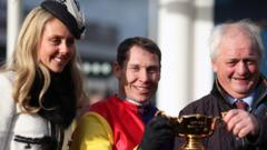 Colin Tizzard & Richard Johnson with the Gold Cup