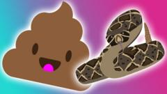 poo and snake cartoon