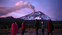 The Popocatepetl volcano
