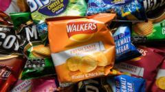 A pile of crisp packets