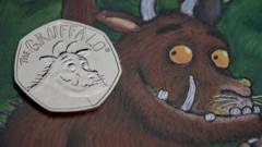Special 50p coin released to mark 20 years since the Gruffalo was created.