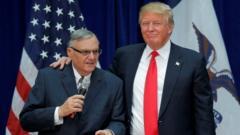 Joe Arpaio and President Donald Trump