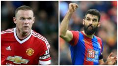 Wayne Rooney and Mile Jedinak