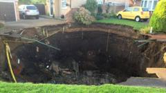 Giant hole on Fontmell Close, St Albans
