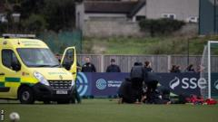 Ambulance on the pitch