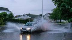 Floods in the north east of Scotland