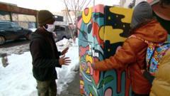 Community fridge in New York