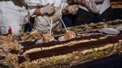The world's longest tiramisu
