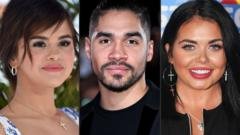 Selena Gomez, Louis Smith and Scarlett Moffatt.