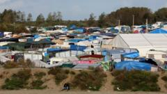 General view of the Jungle camp in Calais, October 17th 2016