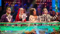 Strictly judges at the Halloween special in 2017.