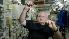 Scott Kelly plays ping pong in space