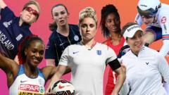 Composite image of British female sportswomen