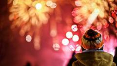 kid looking at fireworks