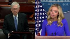 Composite of Mitch McConnell and Kayleigh McEnany