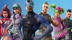 Images of avatars from the video game Fortnite