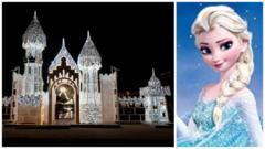 Ice castle Elsa