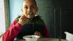 Pupil eating lettuce