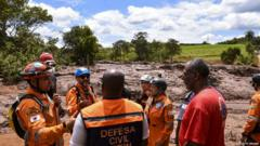 Rescue workers gather in Brazil