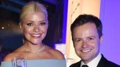Ant McPartlin stood next to Holly Willoughby and Declan Donnelly