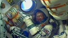 Tim Peake in Soyuz