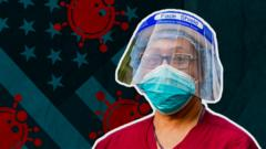 Promo image showing an American doctor wearing protective clothing