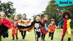 children dressed up in costumes