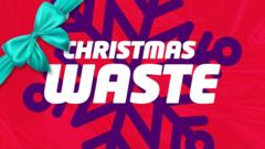 Graphic slate saying Christmas waste