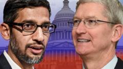 Google's Sundar Pichai and Apple's Tim Cook