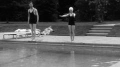 Queen swimming