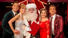 Strictly judges on the Christmas special in 2017.
