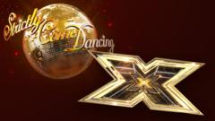 Image of Strictly disco ball and X Factor logo