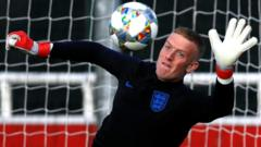 England's Jordan Pickford during training
