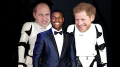 Photoshopped image of Prince William and Harry as Stormtroopers