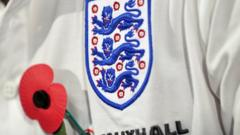 Poppy pinned on England shirt