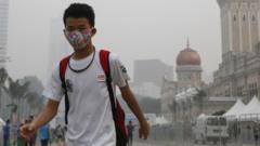Boy in smog