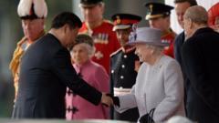Queen meets President Xi Jinping